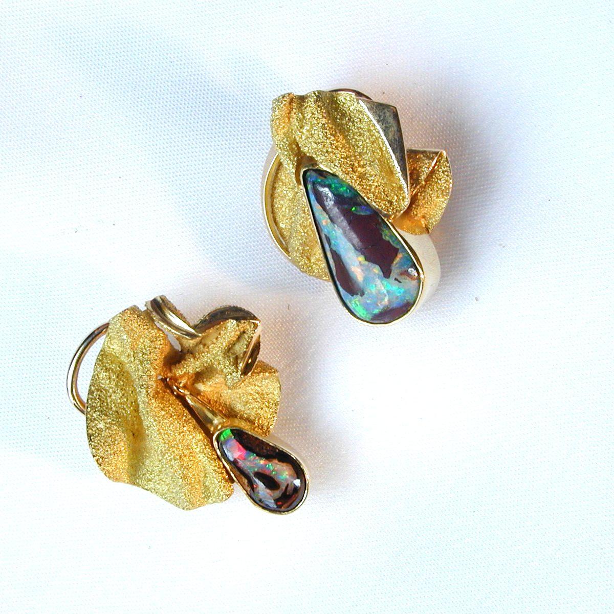 Ohrschmuck Gold Opal
